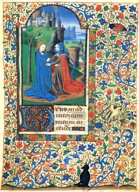 Книга часов из Ленинки № 446 - Встреча Марии и Елизаветы