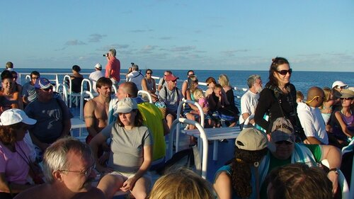 Возвращение с багамских пляжей на корабль...