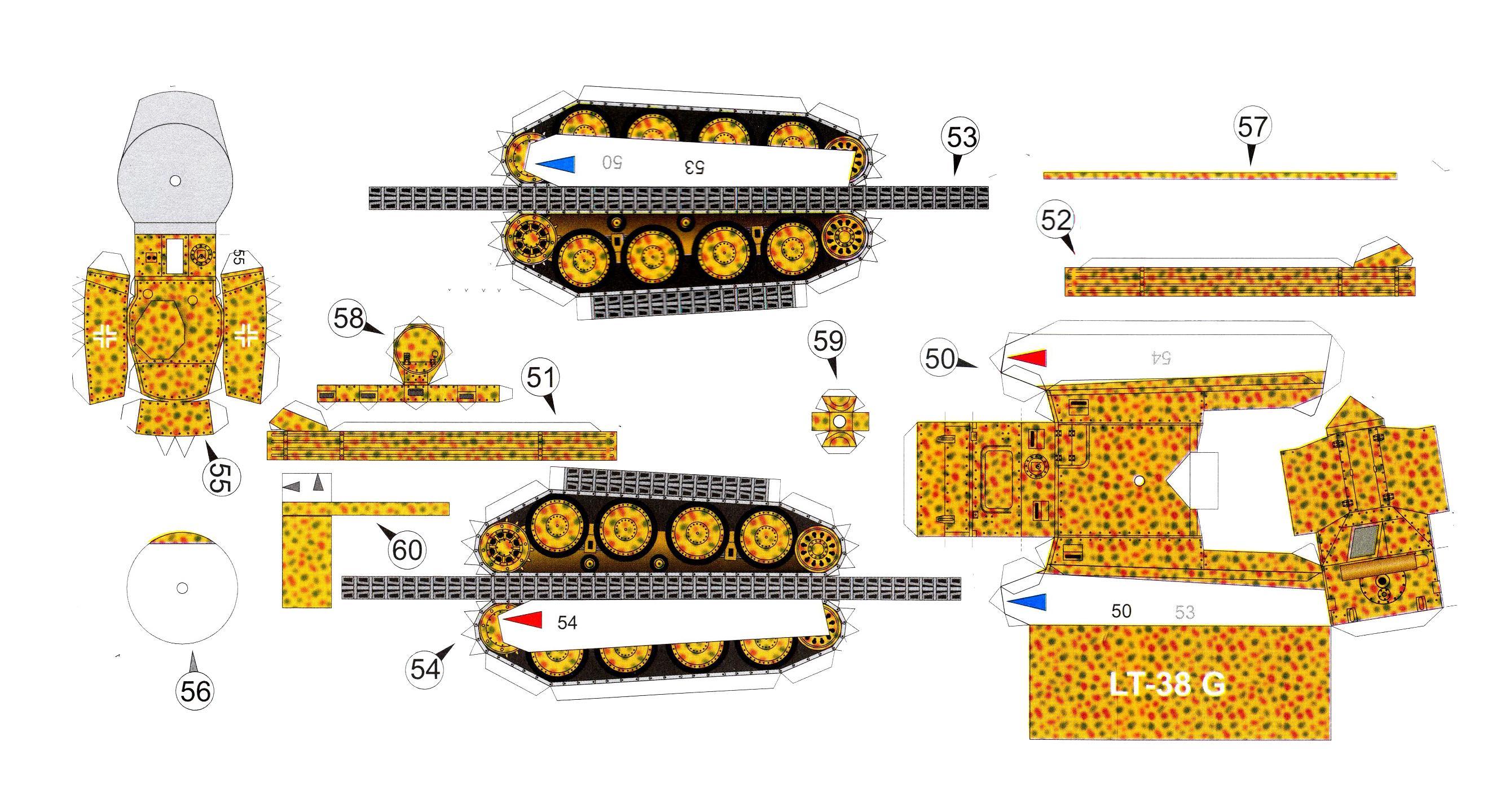 Собранные модели танков из бумаги