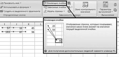 Зависимости в формулах Excel