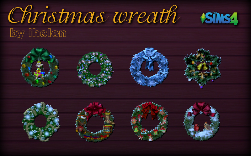 Christmas Wreath stickers by ihelen