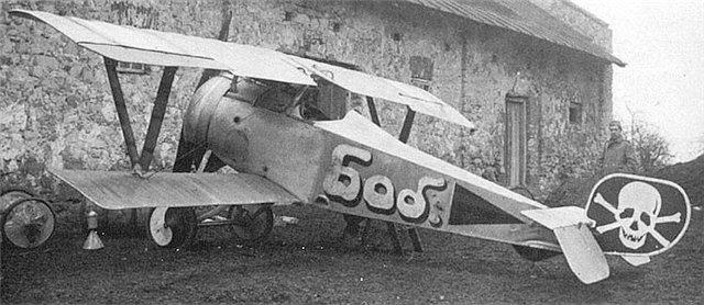 Самолет «Nieuport-23», серийный .№ N3598, на котором летал и.д. командира 19-го корпусного авиаотряда (као) поручик Б.А.Губер, осень 1917 года.