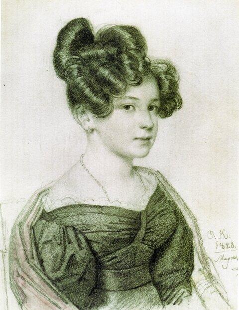 Портрет А.А.Олениной