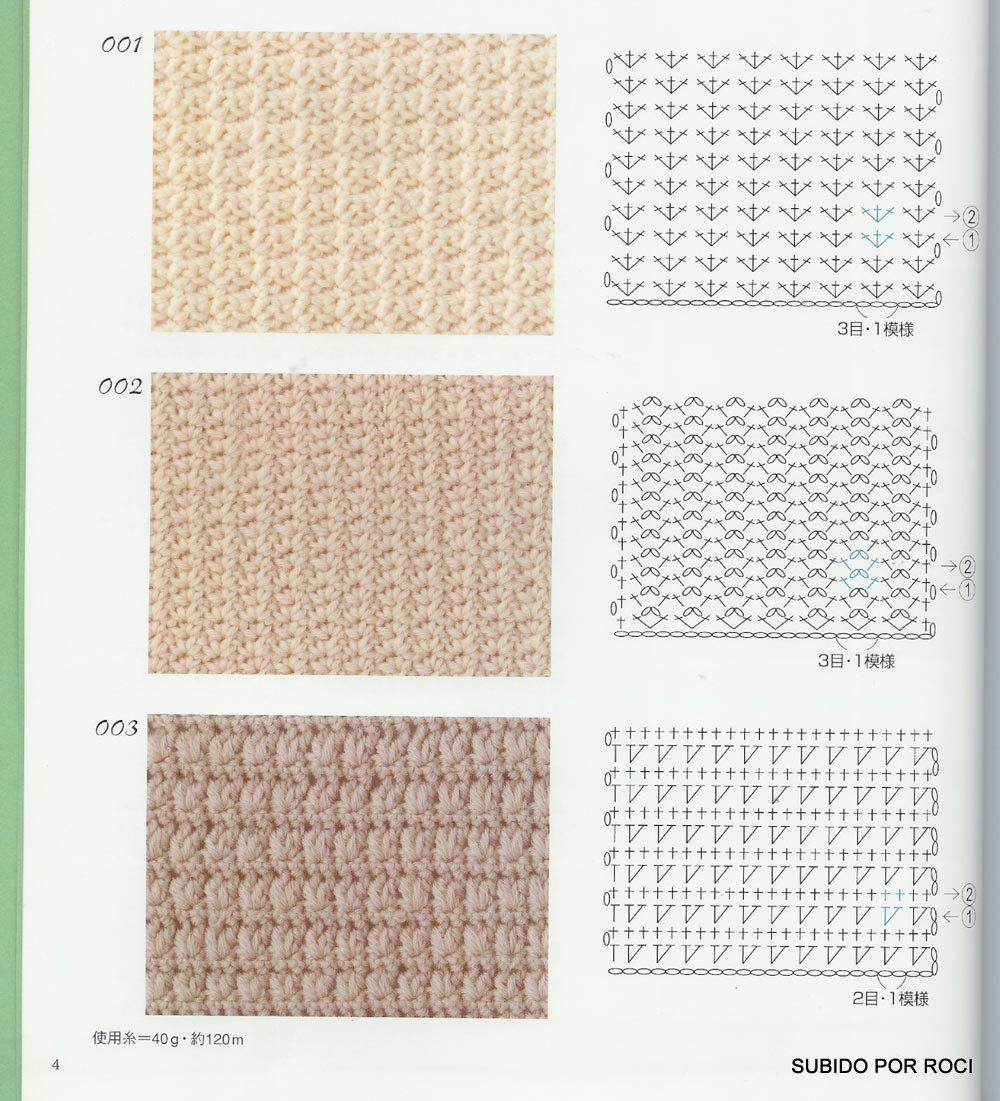 Узоры для плотного вязания крючком