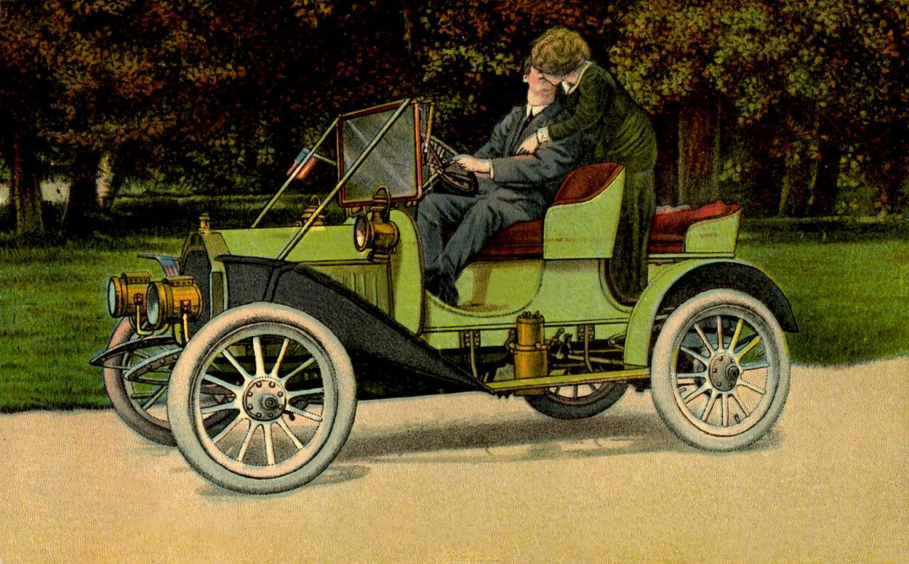 Часть 2. Картинки для декупажа.  Ретро-автомобили.  Очень много.