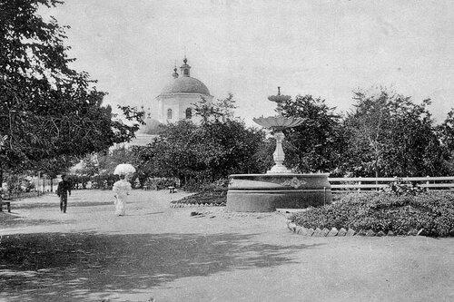 Фонтан в Новом сквере, фото А.Ермаков, 1911-1913