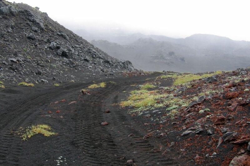 Дорога на базе луноходчиков, Толбачик, Камчатка