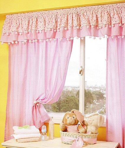 Как сшить шторы своими руками розовые