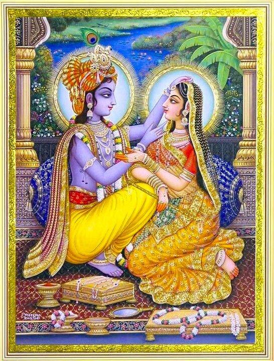 Искусство Индии - Шри Шри Радха-Кришна