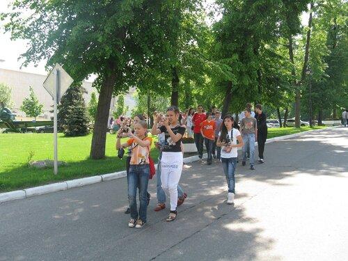 Группа экскурсантов Мосфильма