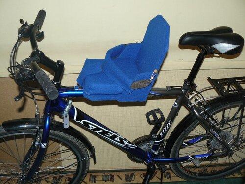 Детское сиденья для велосипеда на раму своими руками