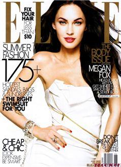 Megan Fox by Alexei Hay / Меган Фокс на обложке Elle US june 2009
