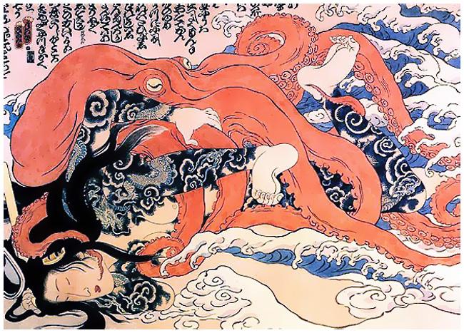 Легенда о принцессе Таматори или Секс с осьминогом.
