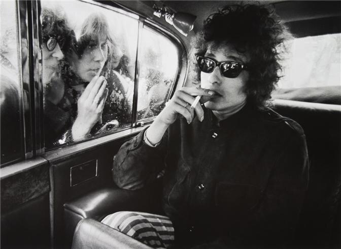 1966 Bob Dylan by Barry Feinstein.
