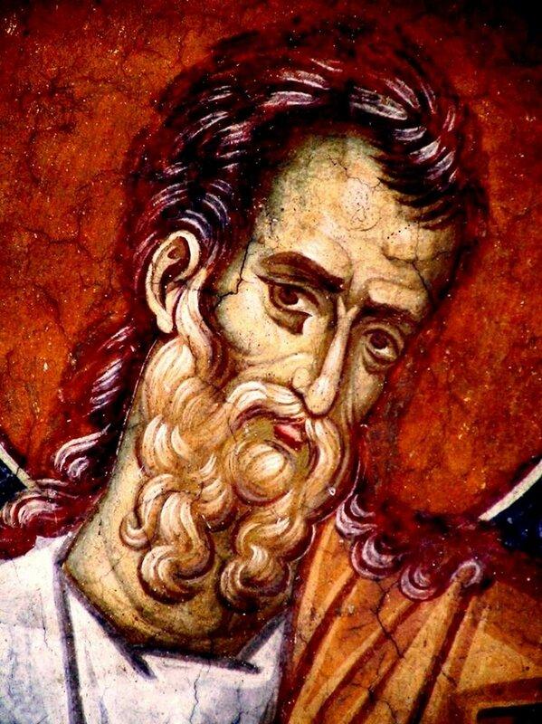 Святой Пророк Иезекииль. Фреска монастыря Высокие Дечаны, Косово, Сербия. Около 1350 года.