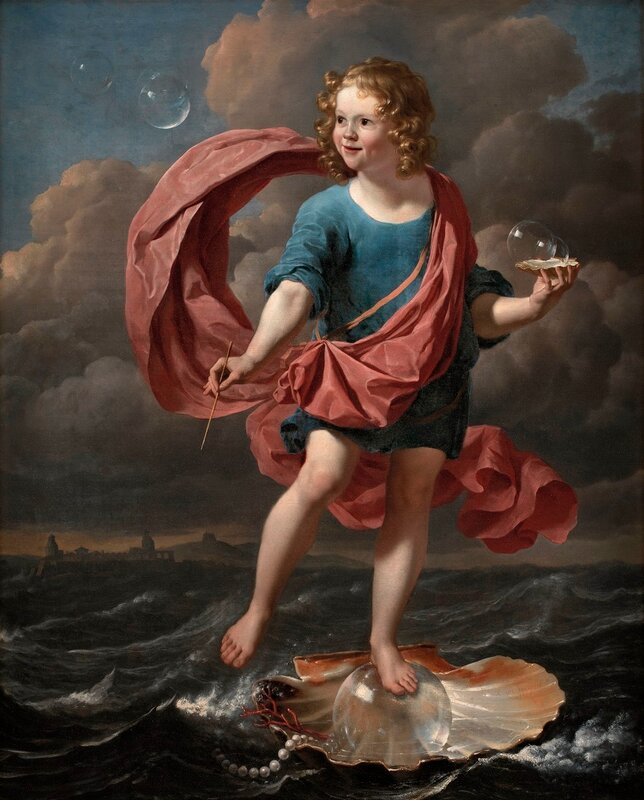 Karel Dujardin (1628-78)  Boy Blowing Soap Bubbles Allegory on the Transitoriness and the Brevity of Life