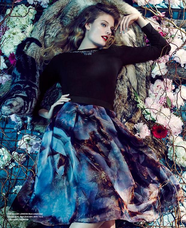 Констанс Яблонски (Constance Jablonski) в рекламной фотосессии для Bloomingdale's