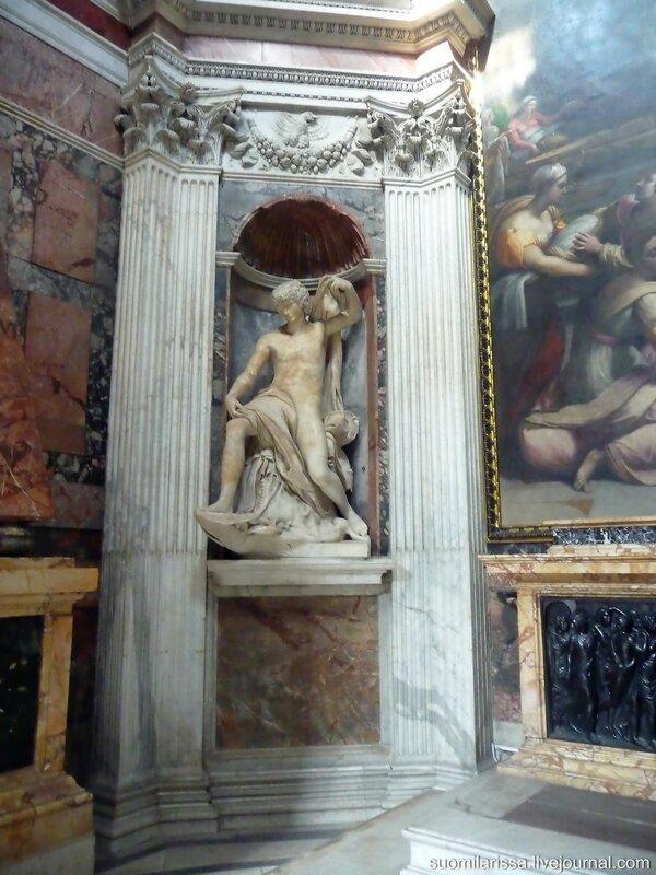 """Капелла Киджи. Скульптура """"Пророк Иона"""", Лоренцетто, 1522 г."""