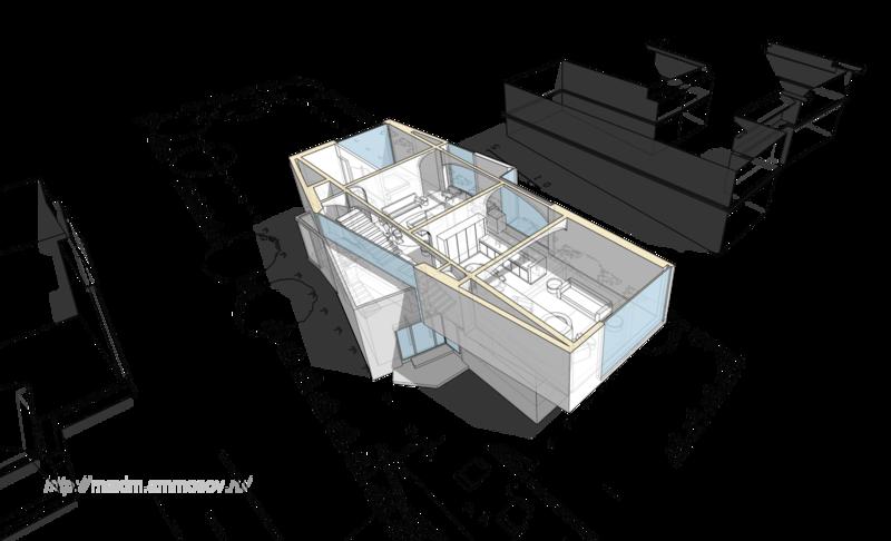 план разрез балки перекрытия первого этажа мужской интерьер лестница на второй этаж вынесена за периметр фундамента экономия места в доме, уникальные здания, строительство загородных домов, проектирование и строительство,