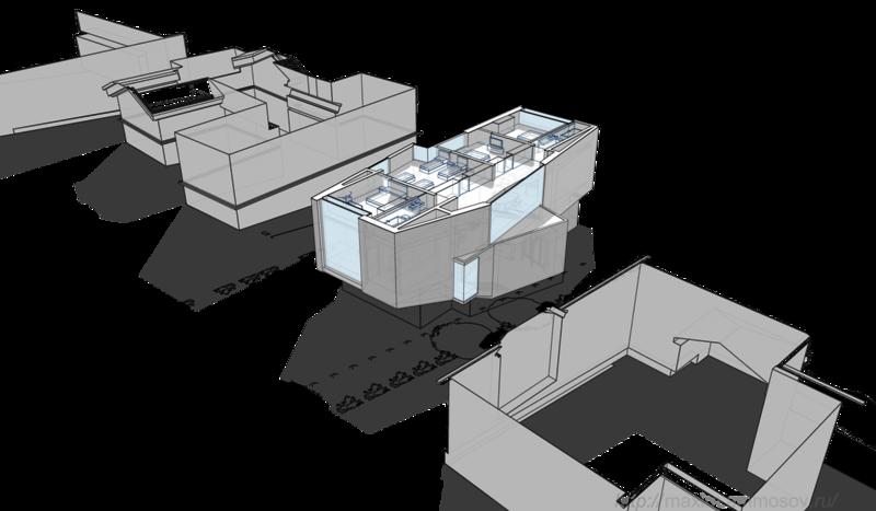 современный стиль в интерьере, архитектурный проект, коттедж план второго, мансардного этажа, помещения индивидуальных спален защемлённая лестница вынесена за ленту фундамента