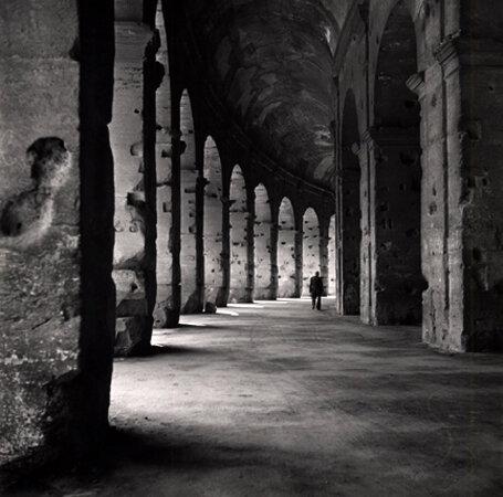 Collonades of the Colloseum, Rome, 1949