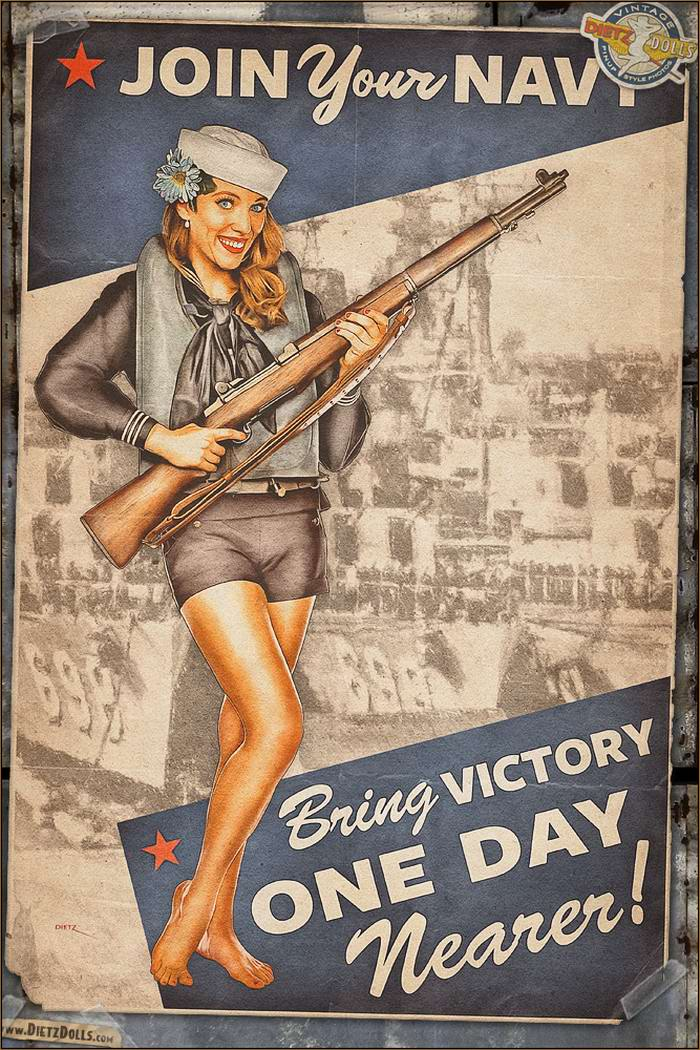 Армейский pin-up в стиле 1940-х годов от американского художника Britt Dietz (3)