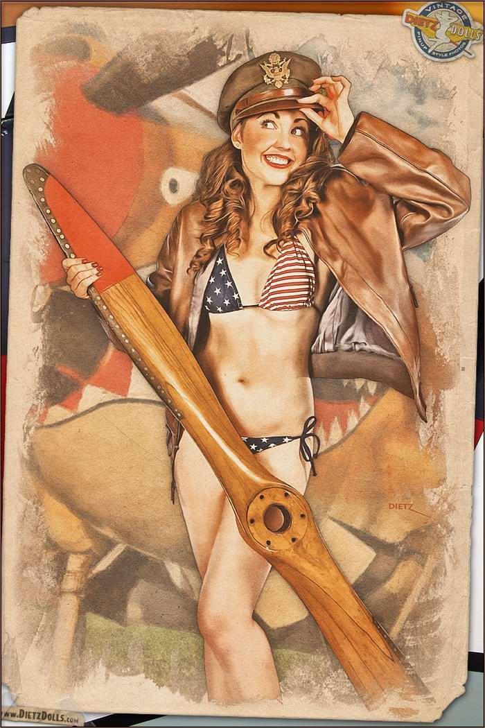 Армейский pin-up в стиле 1940-х годов от американского художника Britt Dietz (7)