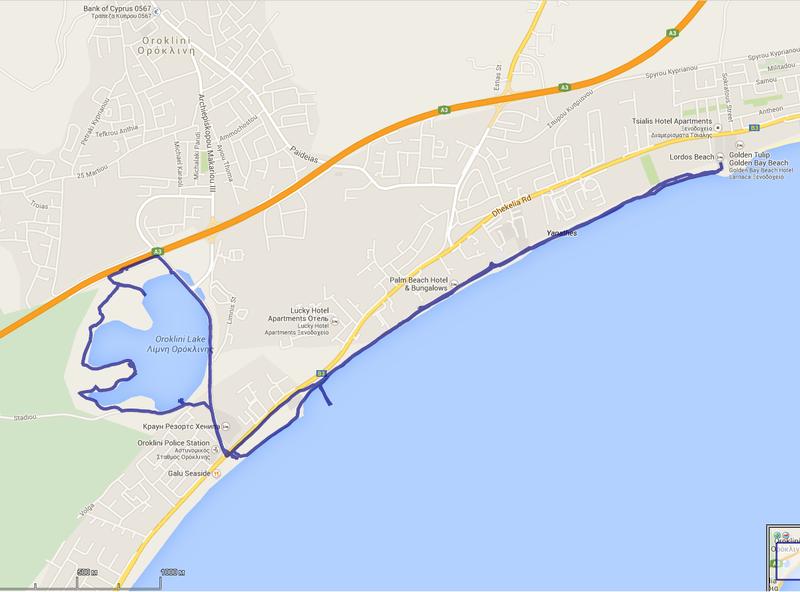 схема прогулки к соленому озеру Ороклина