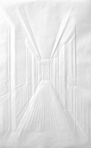 Картины из мятой бумаги. Simon Schubert