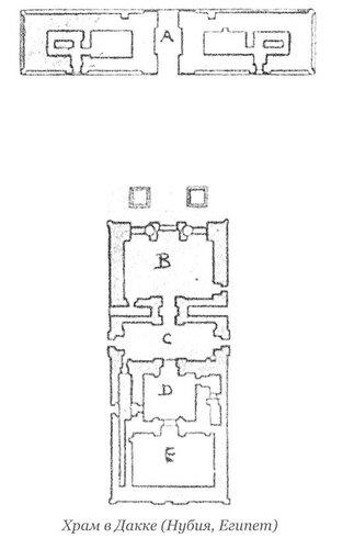 Храм в Дакке (Нубия), Египет, план