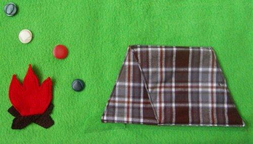 Развивающий коврик для детей и активные элементы... домики!