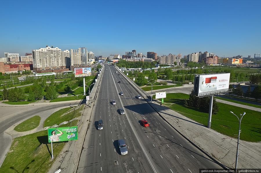 Новосибирск. Улица Кирова - Октябрьская магистраль (2011)