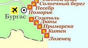 Курорты в районе Бургаса