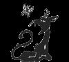 """Схема вышивки  """"Черная кошка-4 """": схема."""