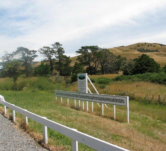 Холм с самым длинным в мире названием. Новая Зеландия