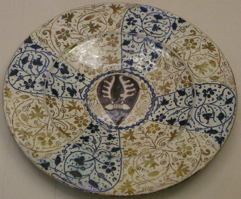 Блюдо с гербом Содерини