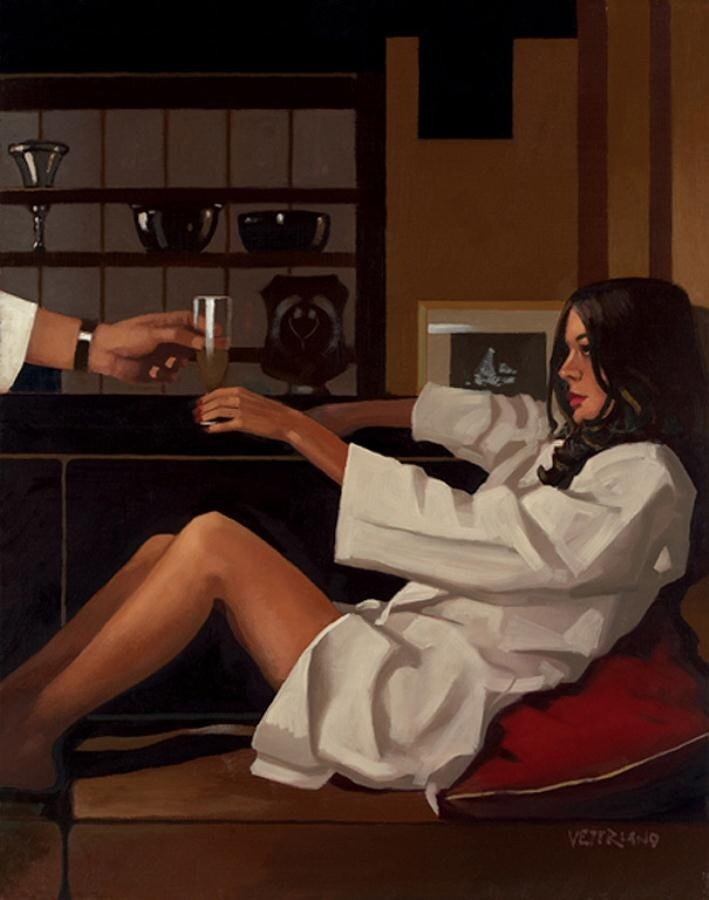 Man Of Mystery II, by Jack Vettriano