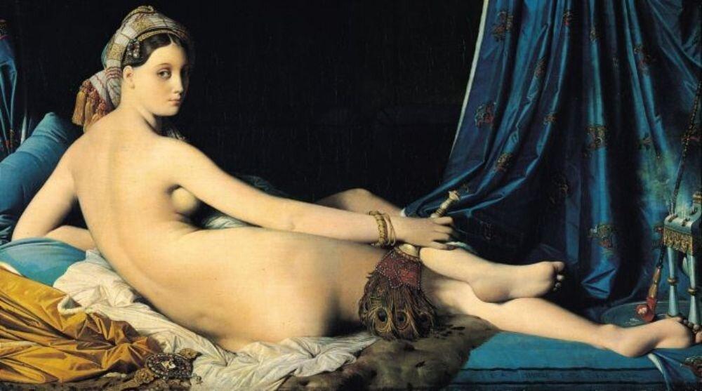 Энгр, Большая одалиска, 1814 г. La Grande Odalisque,(4096 пикс.)