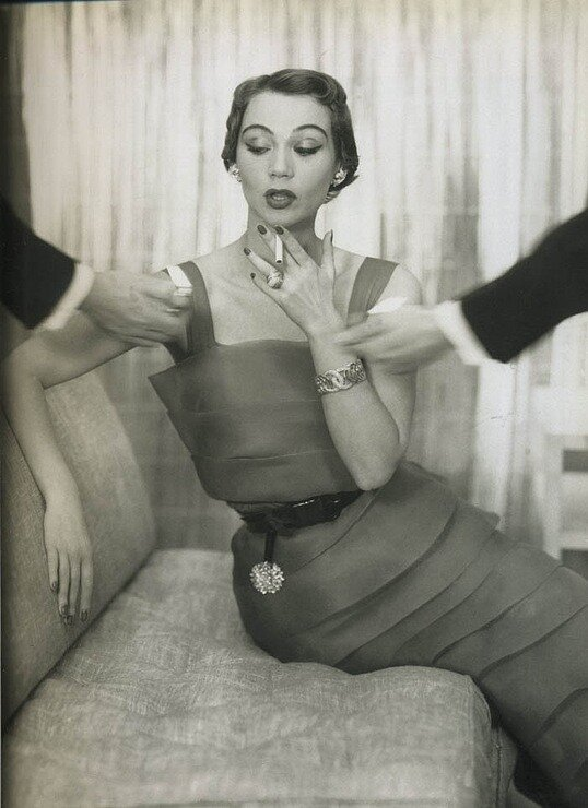dress by Mildred Orrick,  1950