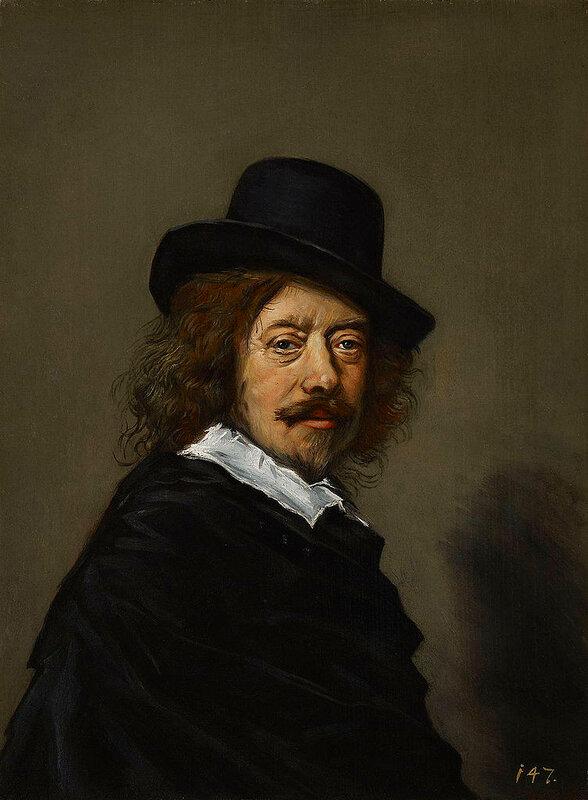 Копия пропавшего автопортрета Франса Хальса (1648-1650) (1582 -1666)