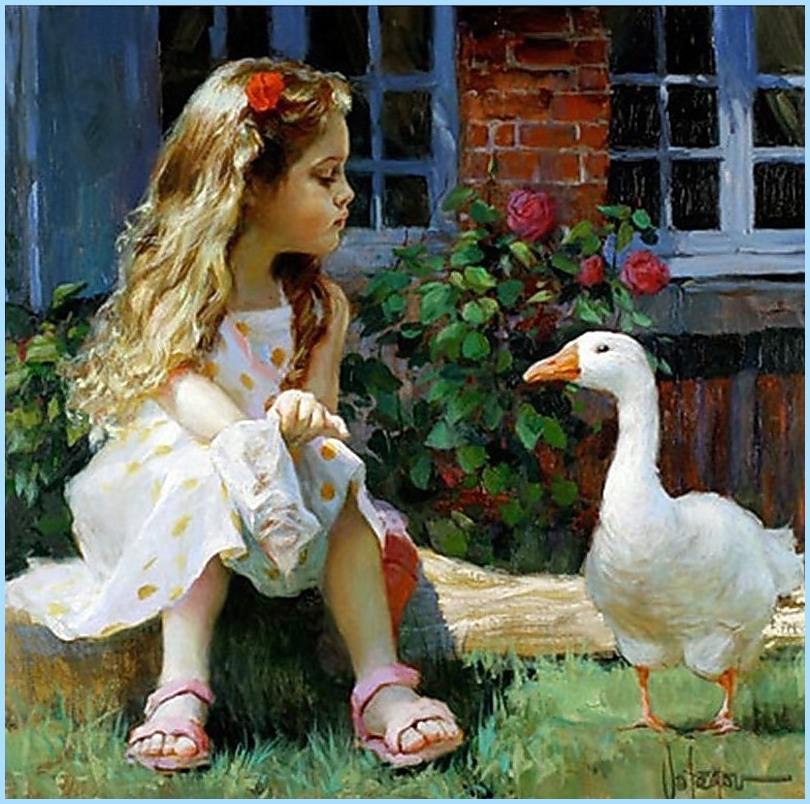 Дети на картинах Владимира Волегова