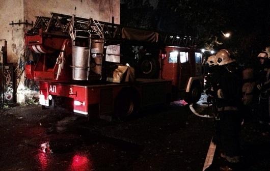 ВНевском районе 75 спасателей тушили пожар 2-го  ранга