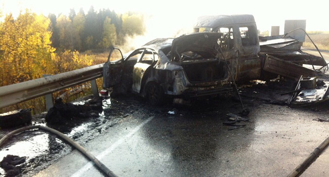Два человека погибли вмассовом ДТП вПермском крае