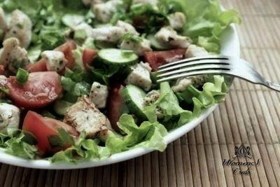 Куриный диетический салат