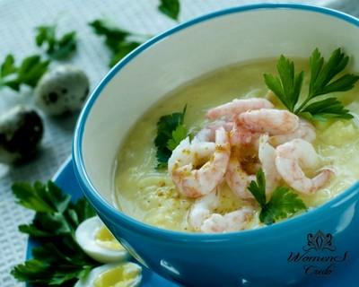 Суп-крем с креветками