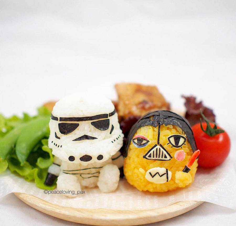 Rice Balls Turned into Pop Culture Characters