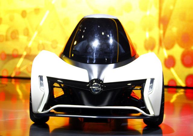 "German carmaker Adam Opel presents the full electric vehicle ""Opel RAK e"" concept car at the Interna"