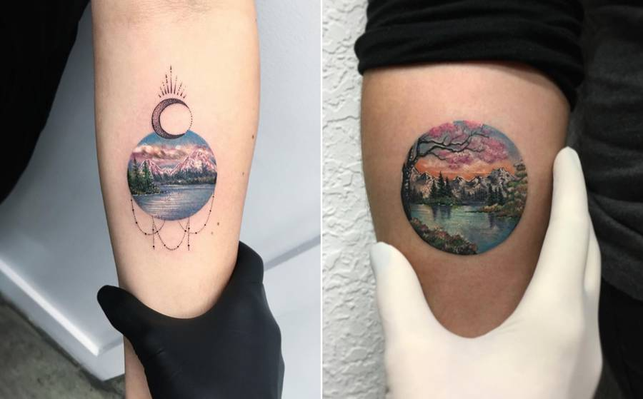 Poetic Circular Tattoos Paying Tribute to Nature (10 pics)