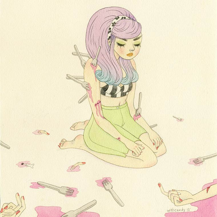 Wishcandy - Les emotions feminines illustrees par Sashiko Yuen