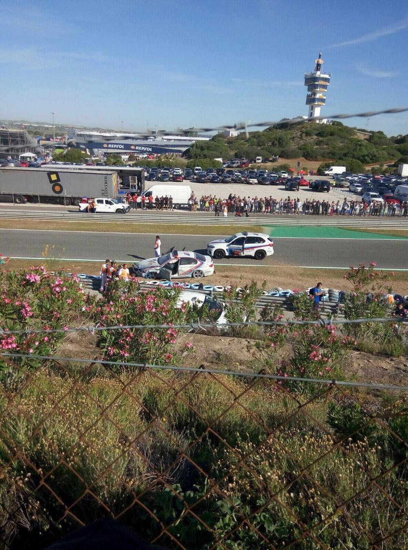 Франко Унчини разбил автомобиль безопаности BMW в Хересе